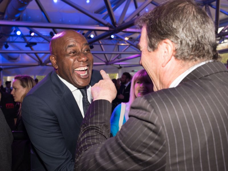 Ainsley Harriott meets friend Nigel Mansell
