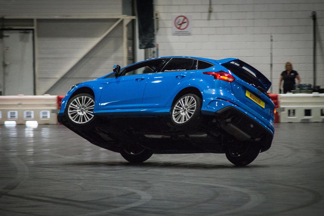 Paul Swift stunt team return to Leasing.com London Motor & Tech Show with bigger display.