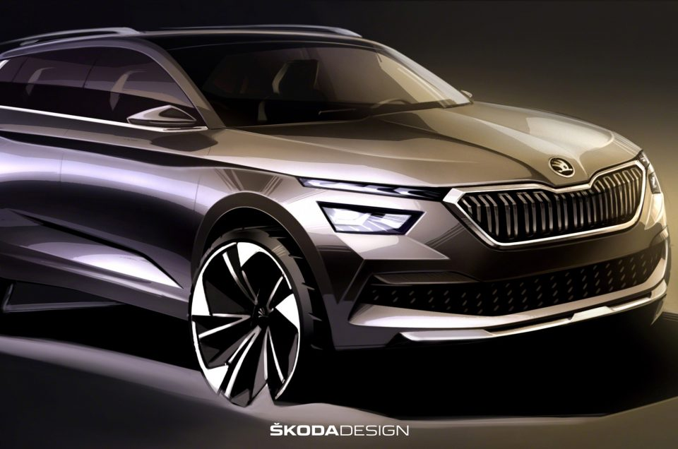 Skoda Kamiq sketches gives first full glimpse of upcoming SUV