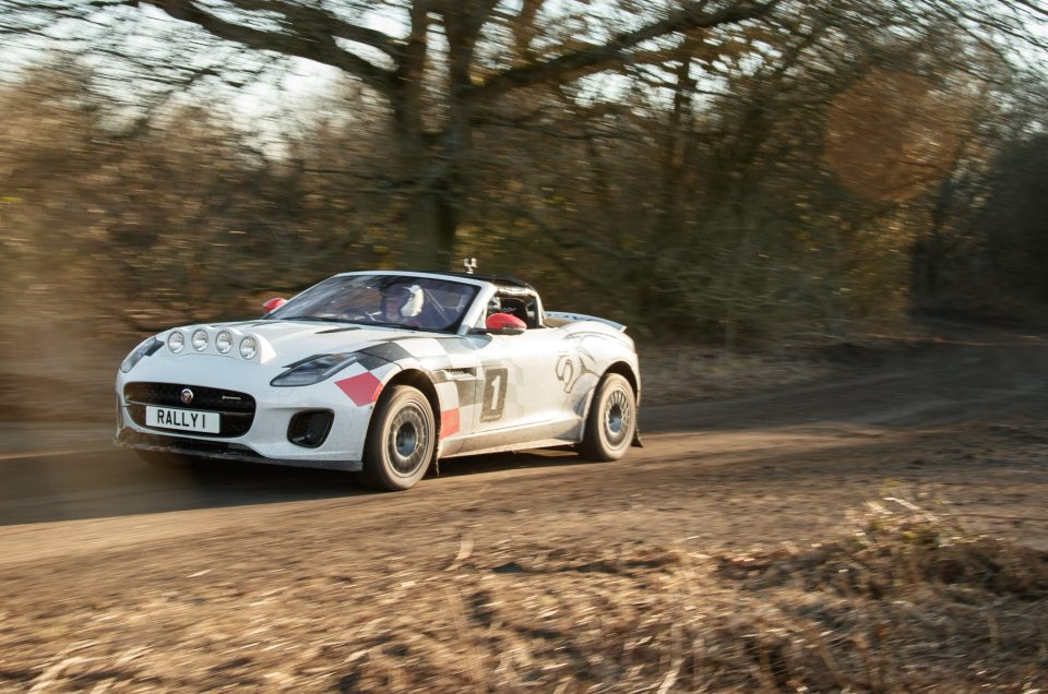 UK Drive: Jaguar F-Type rally car