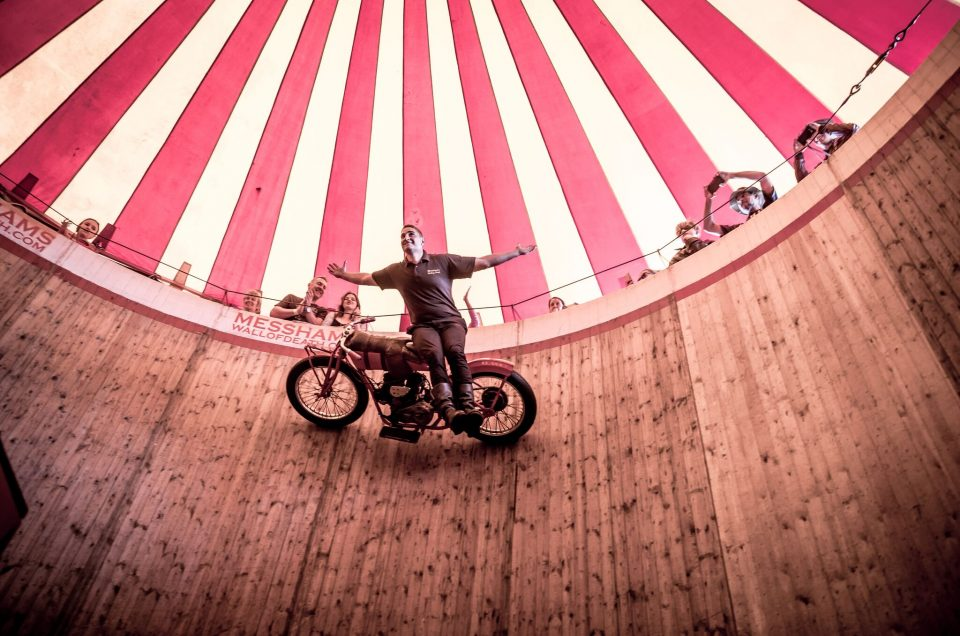 Messhams Wall of Death is coming to The Leasing.com London Motor & Tech Show.
