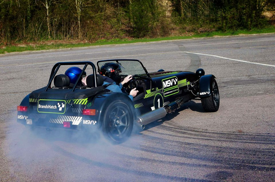 Hail the new Caterham Drift Taxi at the show