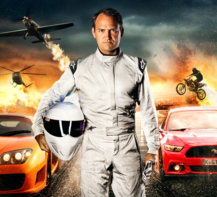 Hollywood stunt driver and former Stig, Ben Collins, live at the Leasing.com London Motor & Tech Show
