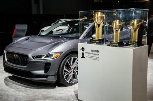 Jaguar I-Pace showcased at The Leasing.com London Motor & Tech Show